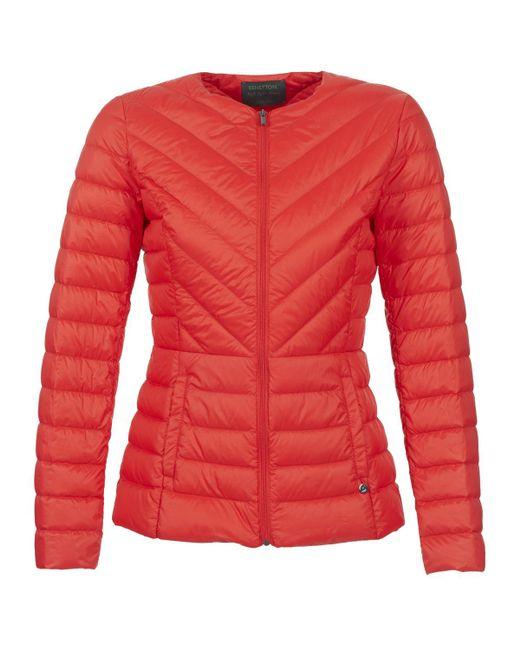 Benetton - Red Fouli Jacket - Lyst