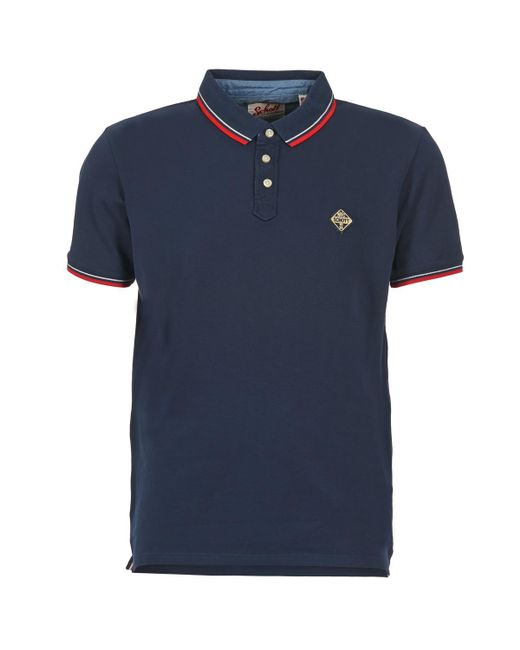 Schott Nyc - Blue Sharbours Polo Shirt for Men - Lyst