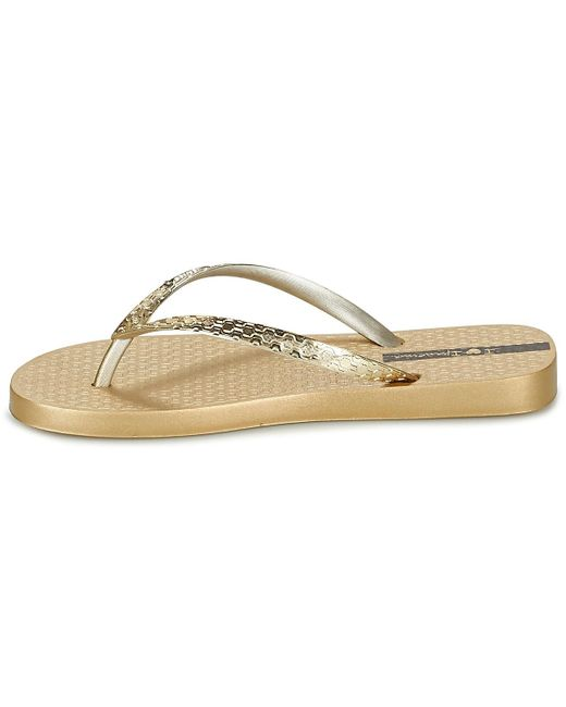 Ipanema Glam Sandal 21 Braid Flipflops In Gold Graphite Rose Silver