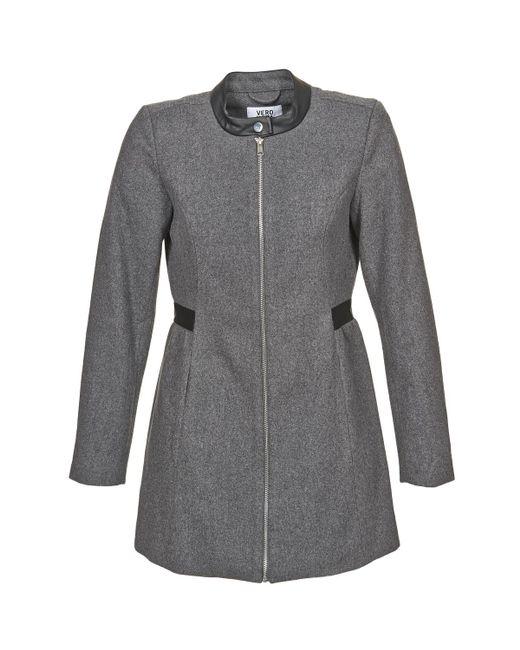 Vero Moda - Gray Capella Coat - Lyst