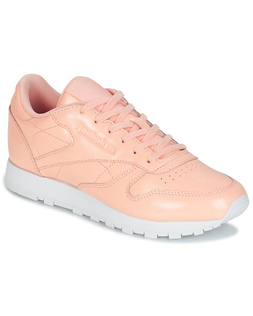 59d30335669 Reebok - Classic Leather Patent Women s Shoes (trainers) In Pink - Lyst ...