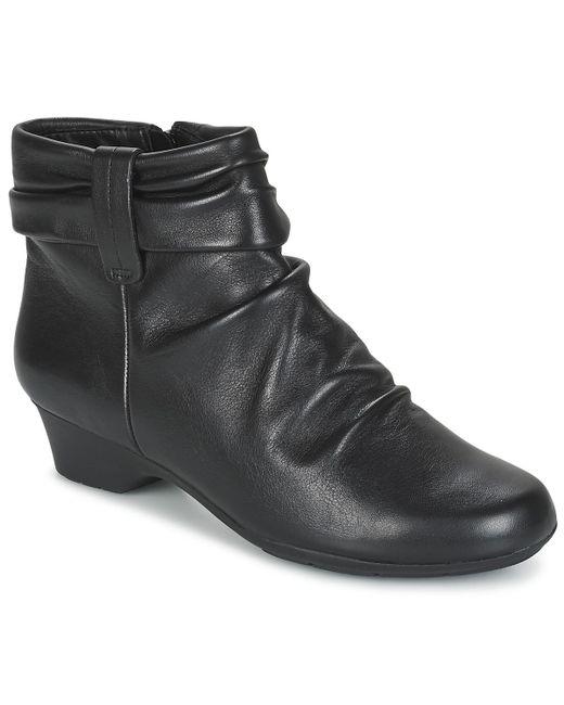 Clarks - Black Matron Ella Low Ankle Boots - Lyst