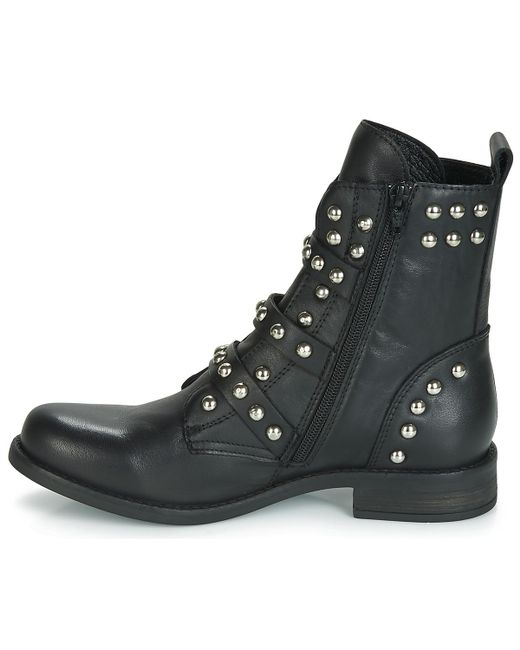 d07bfc908db ... Steve Madden - Black Spunky Low Ankle Boots - Lyst ...