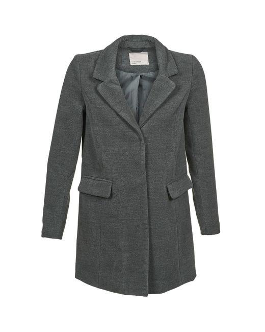 Vero Moda - Gray City Coat - Lyst