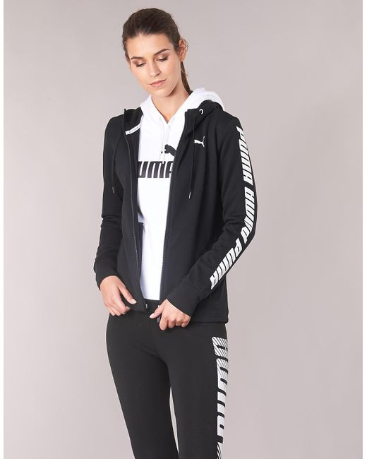 60648c1db6 PUMA Ms Hoody Jacet Women's Sweatshirt In Black in Black - Lyst