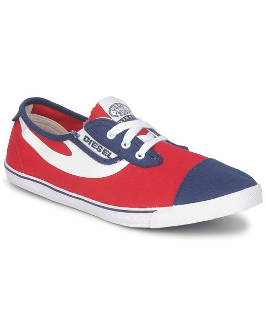DIESEL | Red C-good Shoes (trainers) for Men | Lyst
