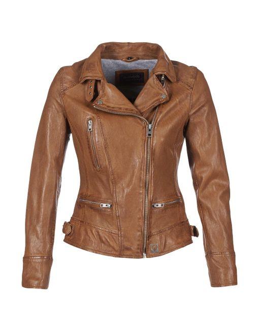 Oakwood Video Women's Leather Jacket In Brown