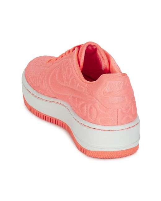 ... Nike - Pink Air Force 1 Upstep Plush W Shoes (trainers) - Lyst ... 353b001c0