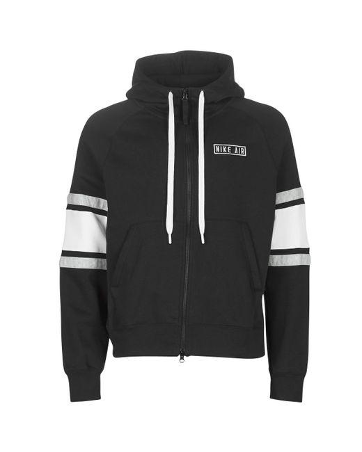 Paloma lamentar Moral  Nike M Nsw Air Hoodie Fz Flc Sweatshirt in Black for Men - Save 17 ...