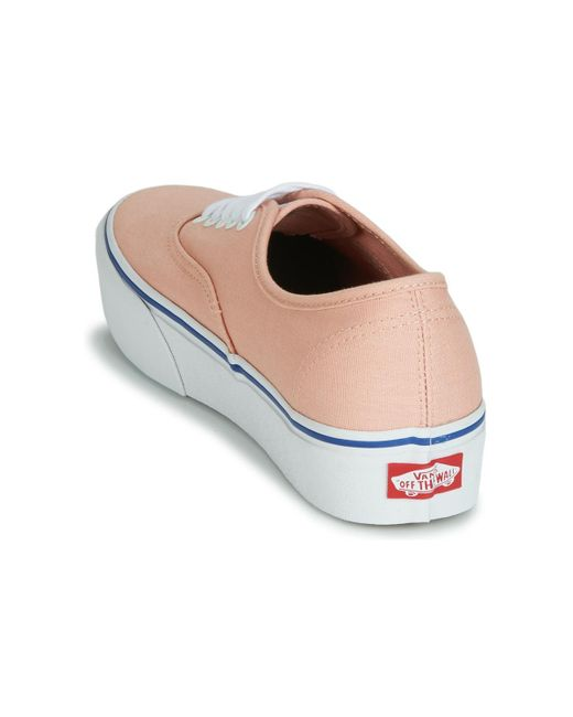 ... Lyst Vans - Authentic Platform 2.0 Women s Shoes (trainers) In Pink ... 12b99880b
