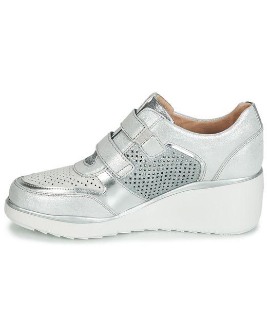 Women's Velourlaminated 16 Shoestrainers White Eclipse 15uTJlFKc3