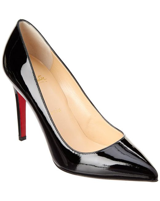 d1e1cfb08f0 Lyst - Christian Louboutin Pigalle Follies 100 Patent Pump in Black ...