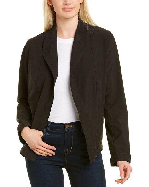 Max Studio Black Draped Jacket