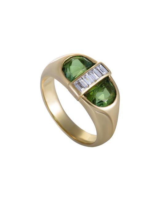 Heritage Tiffany & Co. - Green Tiffany & Co. 18k 0.35 Ct. Tw. Diamond & Peridot Ring - Lyst
