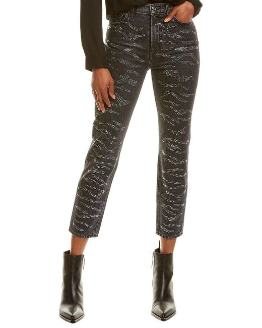 7 For All Mankind Blue 7 For All Mankind Zebra Crystal Jean Jean