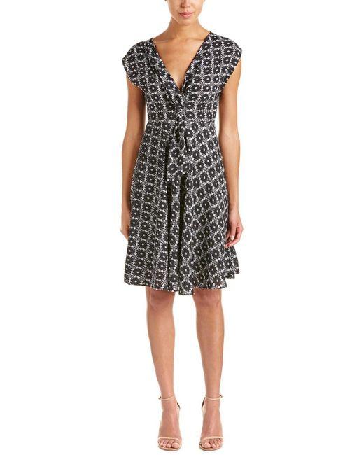 Eva Franco Black A-line Dress