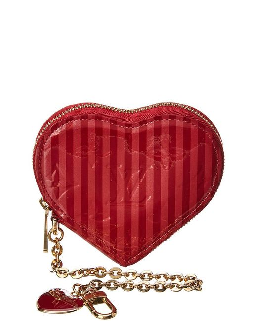 0fa6cdaa8182 Lyst Louis Vuitton Limited Edition Red Monogram Vernis Leather. Louis  Vuitton Vernis Sweet Monogram Coeur Heart Coin Purse Pomme D Amour 95693