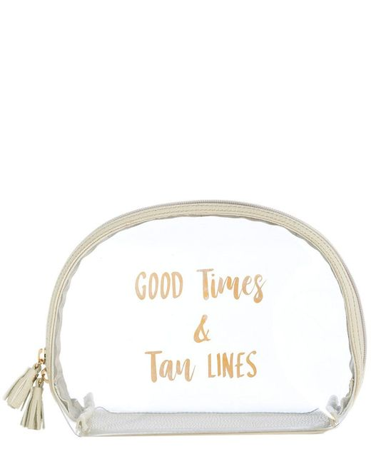 Shiraleah Multicolor Gigi Good Times & Tan Cosmetic Bag