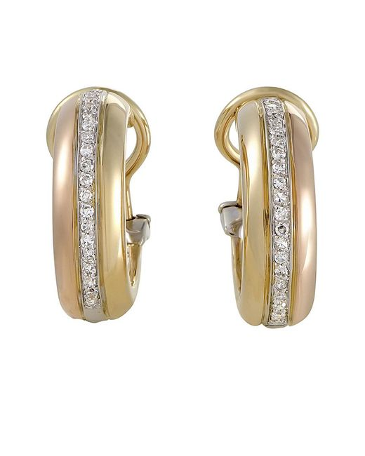 Cartier - Metallic Cartier 18k Tri-color Drop Earrings - Lyst