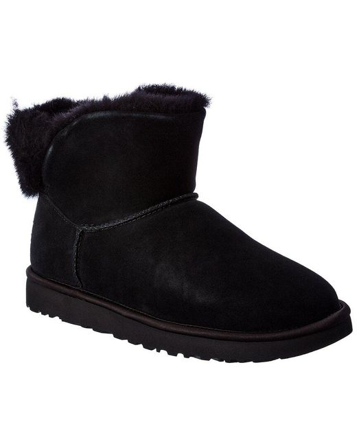 Ugg Black Classic Bling Suede Mini Bootie