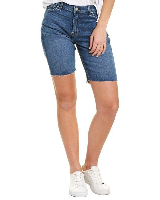 7 For All Mankind Blue 7 For All Mankind Relaxed Bermuda Short