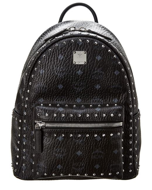 031bb01ac2f7 MCM Stark Studded Small Visetos Backpack in Black - Save 42% - Lyst