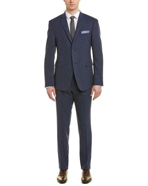 Original Penguin Blue Slim Fit Wool 2pc Suit for men