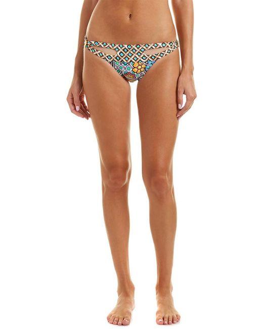 Trina Turk White Madagascar Hipster Bikini Bottom