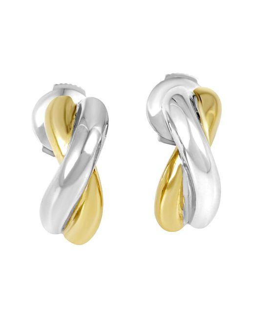 Poiray Metallic 18k Two-tone Drop Earrings