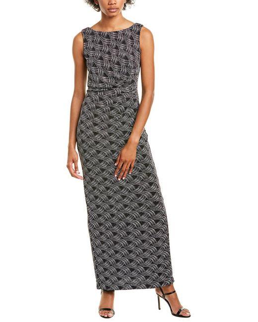 Marina Black Glitter Maxi Dress