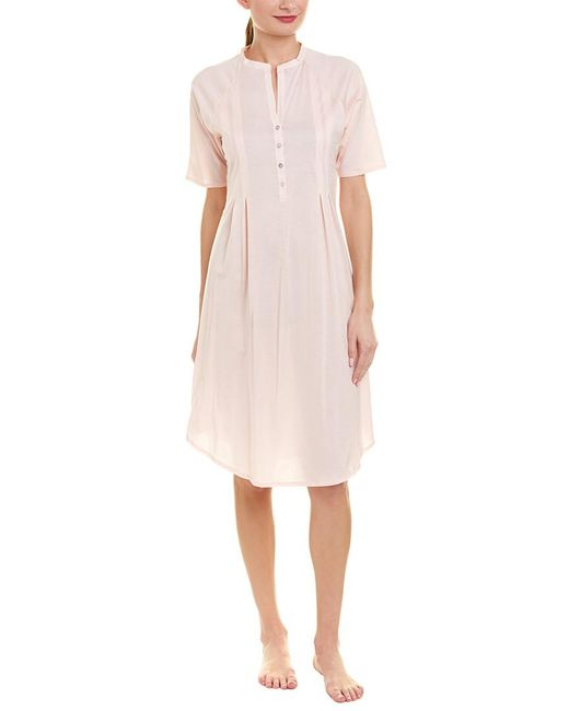 Hanro Pink Pleated Nightgown