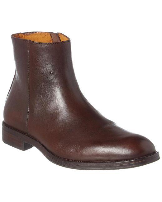 Donald J Pliner Brown Pavel Leather Boot for men