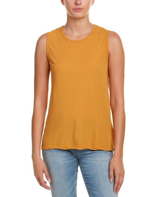 James Perse - Orange Classic Relaxed Tank - Lyst