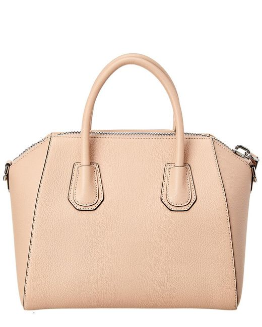 debce495b323 Lyst - Givenchy Antigona Small Leather Satchel in Natural - Save 5%