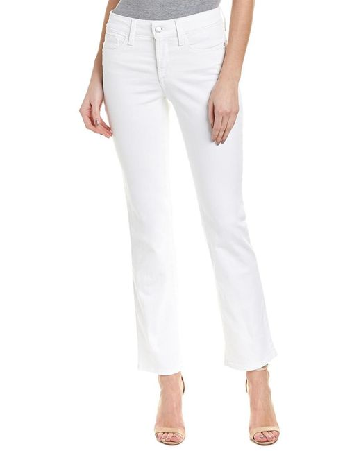 NYDJ - Petite Marilyn Optic White Straight Leg - Lyst