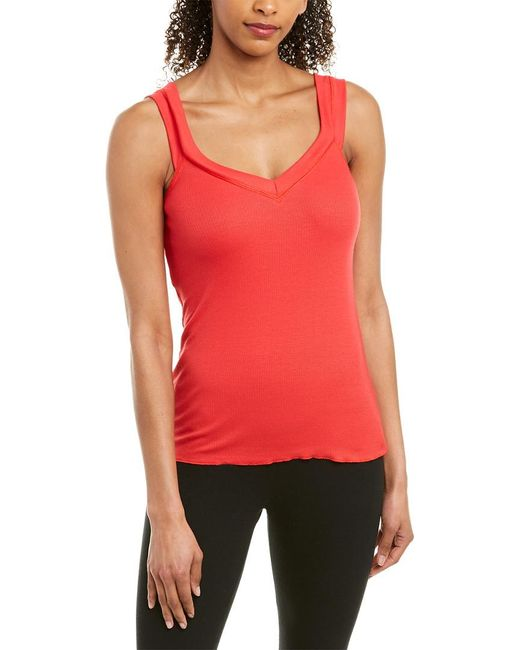 Vimmia Red Serenity Double Strap Tank Long