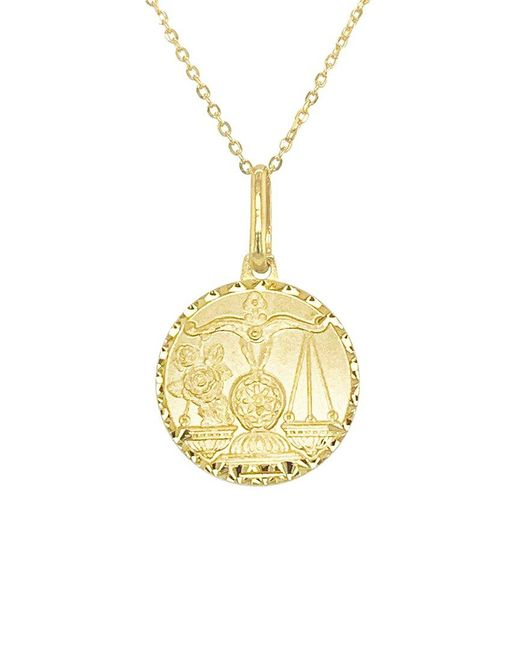 Sabrina Designs Metallic 14k Zodiac Libra Necklace