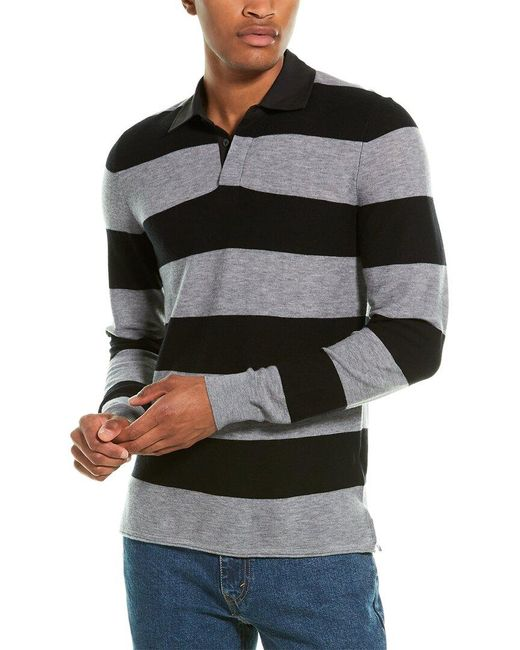 7 For All Mankind Black 7 For All Mankind Rugby Wool Sweater for men
