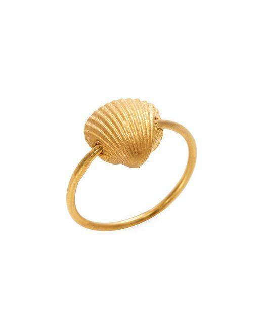 Valentino - Metallic Sea Shell Charm Midi Ring - Lyst