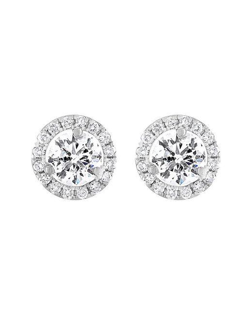Diana M Metallic . Fine Jewelry 18k 2.15 Ct. Tw. Diamond Studs