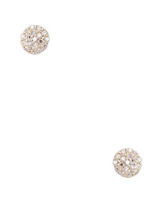 Danni - Metallic 14k & 0.20 Ct. Tw. Pave Diamond Dot Studs - Lyst