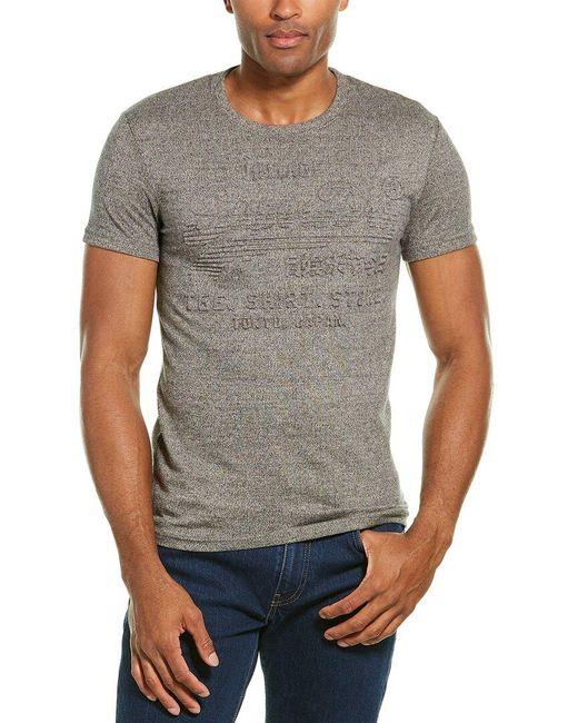 Superdry Gray Embossed T-shirt for men