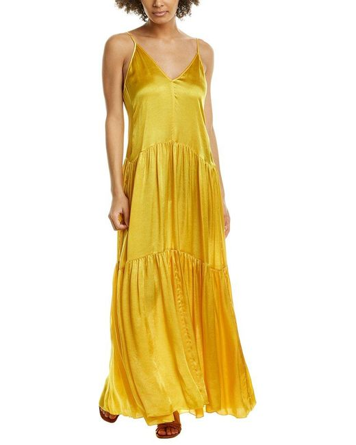 Forte Forte Yellow Moire Maxi Dress