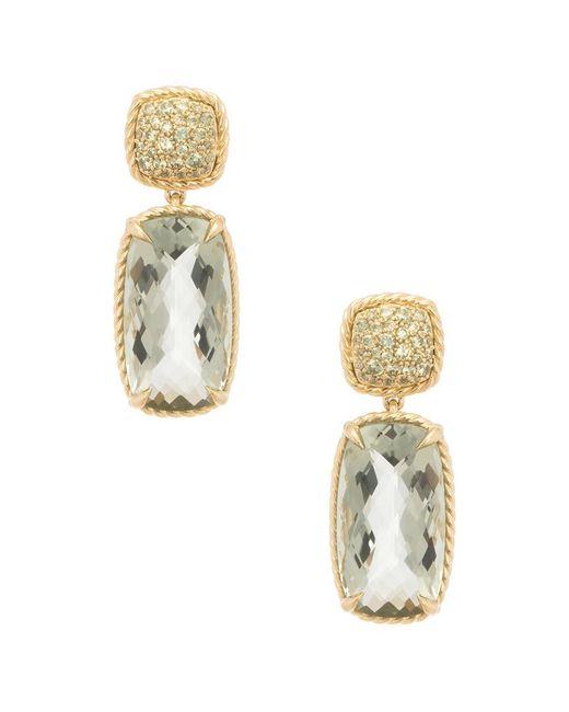 David Yurman - Metallic David Yurman Chatelaine 18k Yellow Gold 25.65 Ct. Tw. Diamond & Gemstone Drop Earrings - Lyst