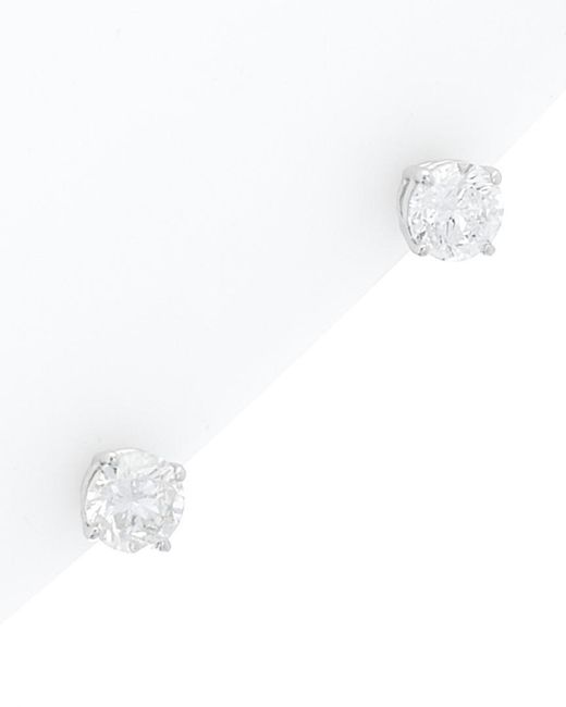 Diana M White 14k 1.60 Ct. Tw. Diamond Studs