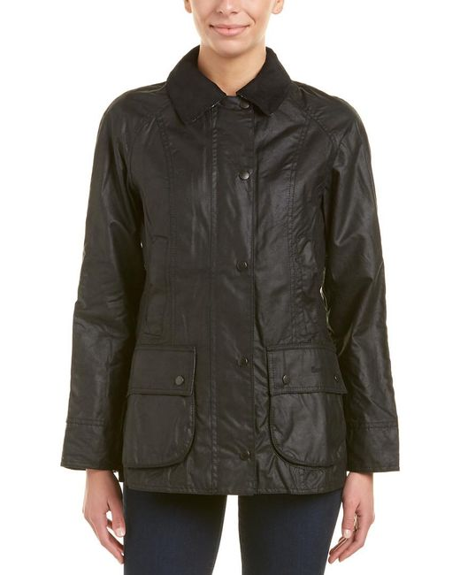Barbour Black Beadnell Wax Jacket
