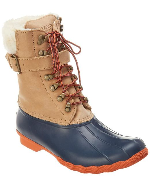 sneakers detailing best place Sperry Top-Sider Rubber Shearwater in Tan/Navy (Blue) - Save 65 ...