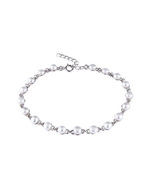 Splendid | Metallic Rhodium Plated 6-7mm Pearl Bracelet | Lyst