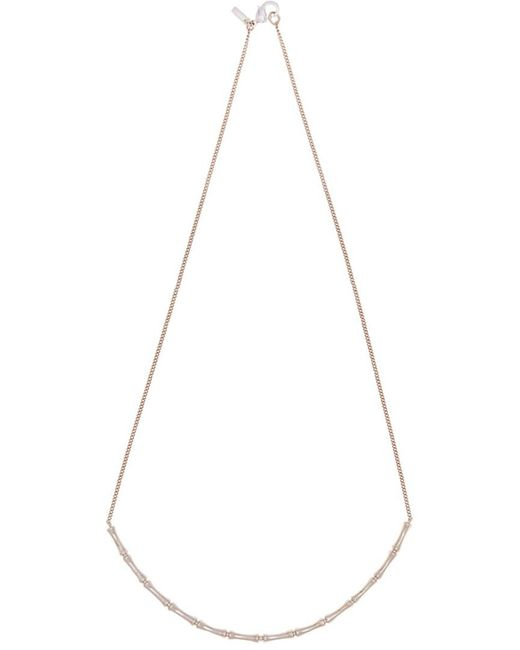 Vanessa Mooney - Metallic 14k Rose Gold Plated Fillmore Bamboo Necklace - Lyst