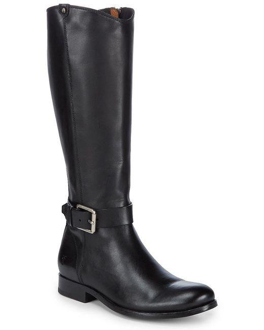 Frye - Black Melissa Strap Tall Boot - Lyst